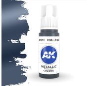 AK interactive Cobalt Blue Metallic Modelling Colors - 17ml - AK11201