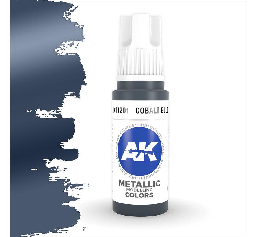 Cobalt Blue Metallic Modelling Colors - 17ml - AK11201