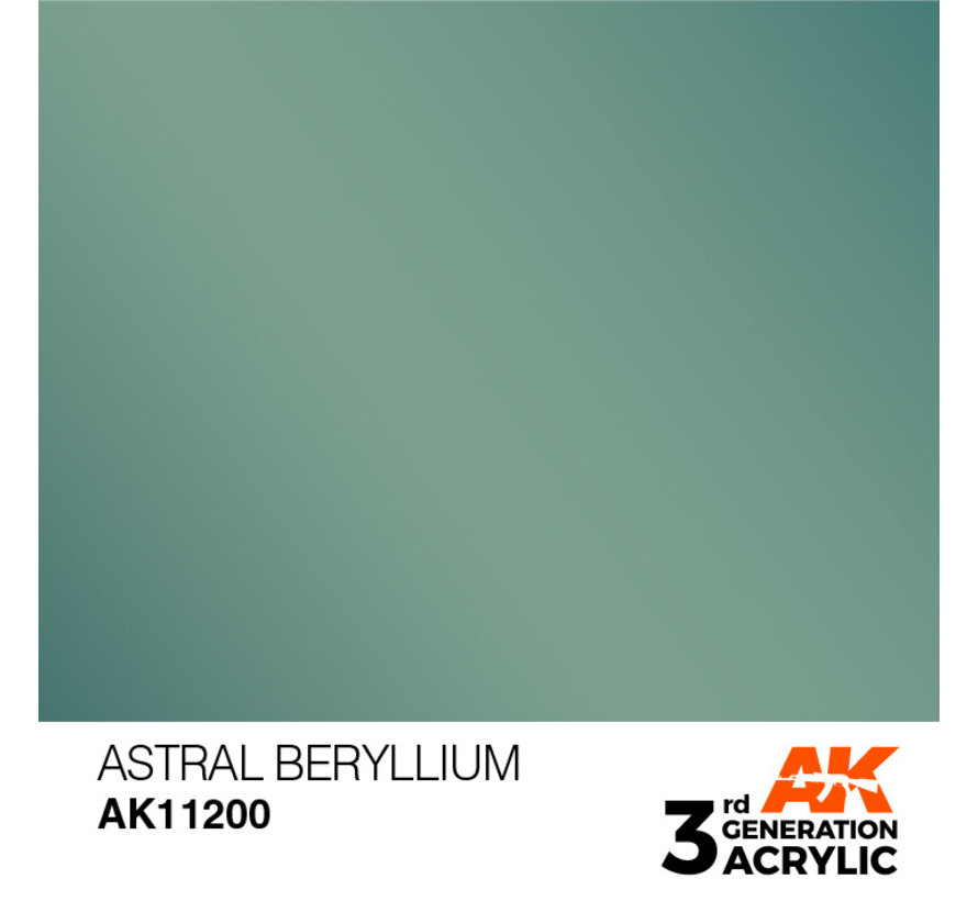 Astral Beryllium Metallic Modelling Colors - 17ml - AK11200