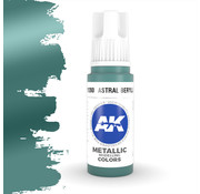 AK interactive Astral Beryllium Metallic Modelling Colors - 17ml - AK11200