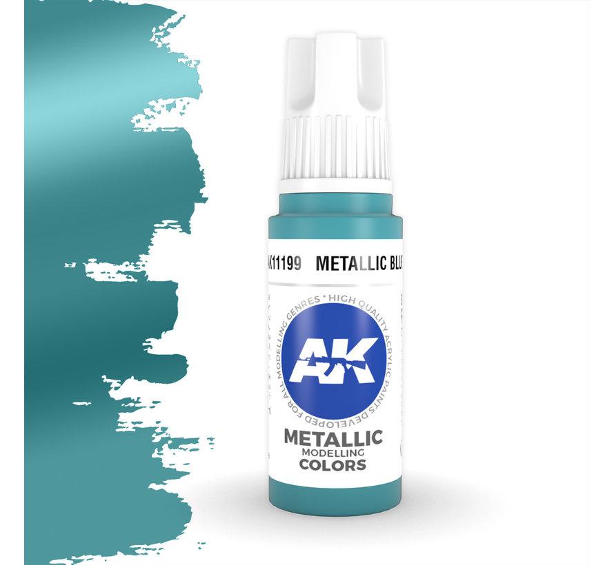 Metallic Blue Metallic Modelling Colors - 17ml - AK11199