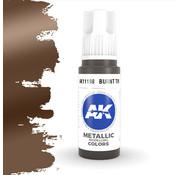 AK interactive Burnt Tin Metallic Modelling Colors - 17ml - AK11198