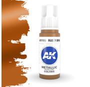 AK interactive Rusty Brass Metallic Modelling Colors - 17ml - AK11195