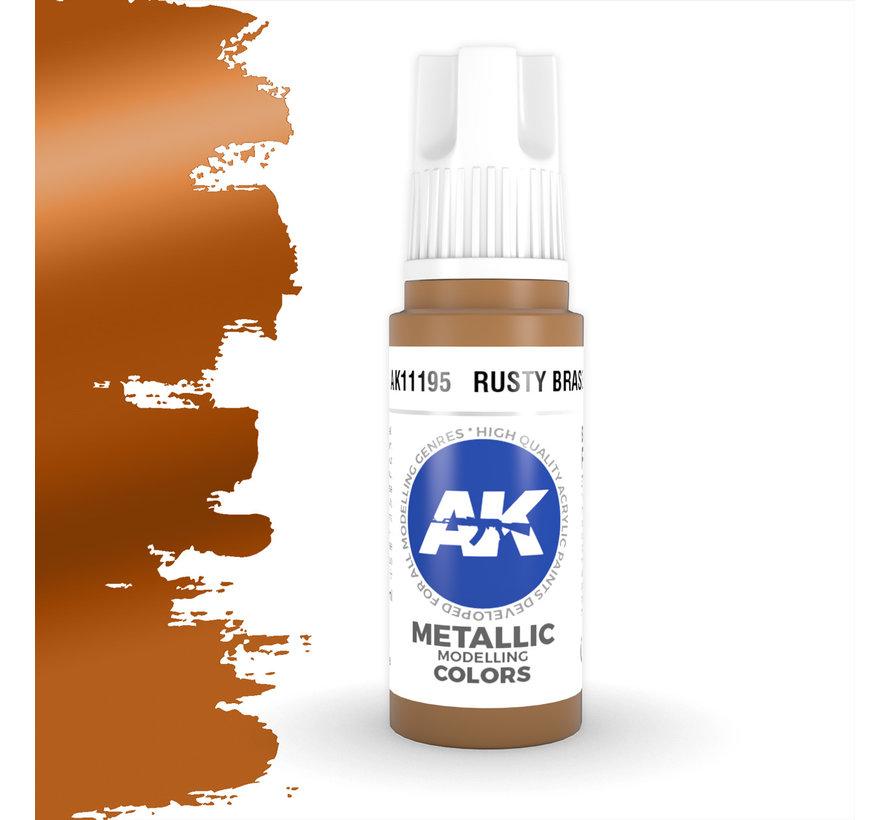 Rusty Brass Metallic Modelling Colors - 17ml - AK11195