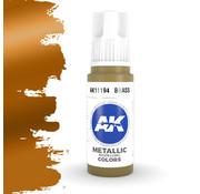 AK interactive Brass Metallic Modelling Colors - 17ml - AK11194