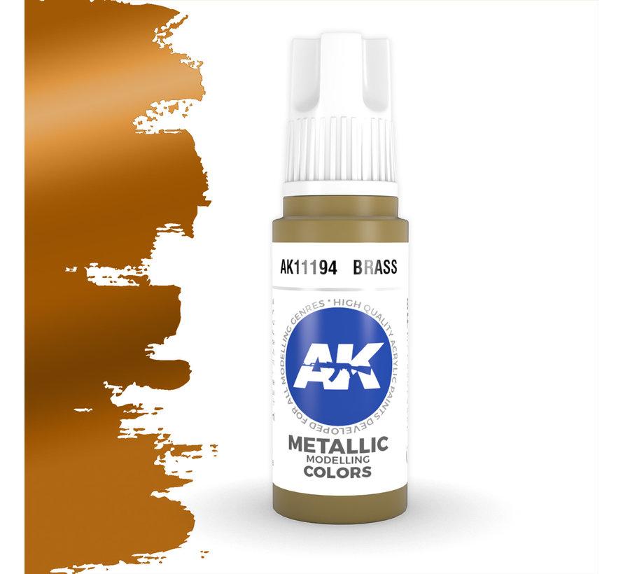 Brass Metallic Modelling Colors - 17ml - AK11194
