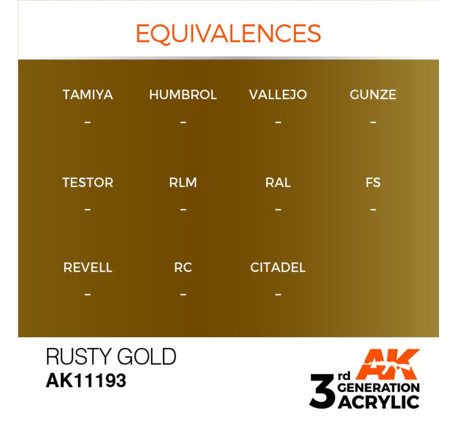 Rusty Gold Metallic Modelling Colors - 17ml - AK11193