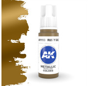 AK interactive Rusty Gold Metallic Modelling Colors - 17ml - AK11193