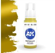 AK interactive Old Gold Metallic Modelling Colors - 17ml - AK11192