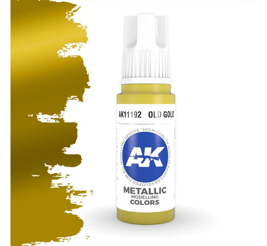 Old Gold Metallic Modelling Colors - 17ml - AK11192