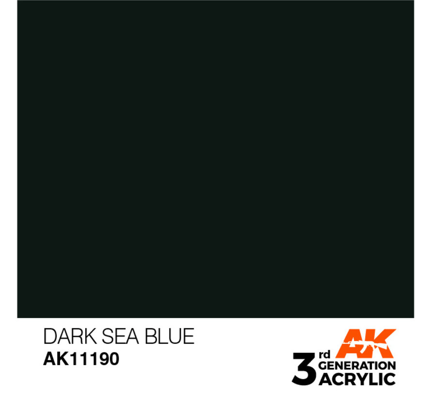 Dark Sea Blue Acrylic Modelling Colors - 17ml - AK11190