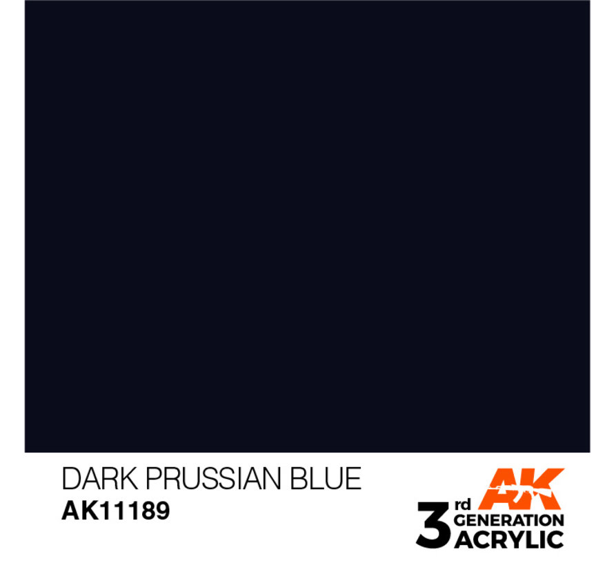 Dark Prussian Blue Acrylic Modelling Colors - 17ml - AK11189