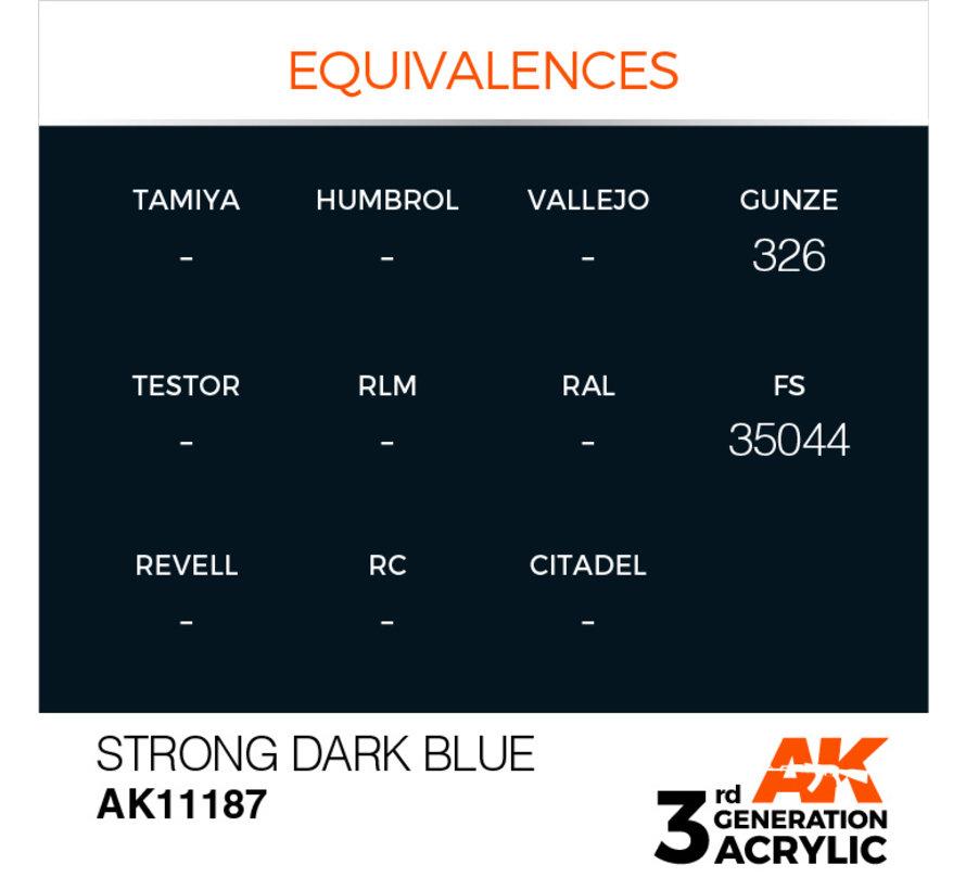 Strong Dark Blue Acrylic Modelling Colors - 17ml - AK11187