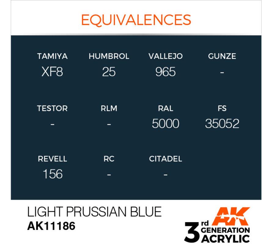 Light Prussian Blue Acrylic Modelling Colors - 17ml - AK11186