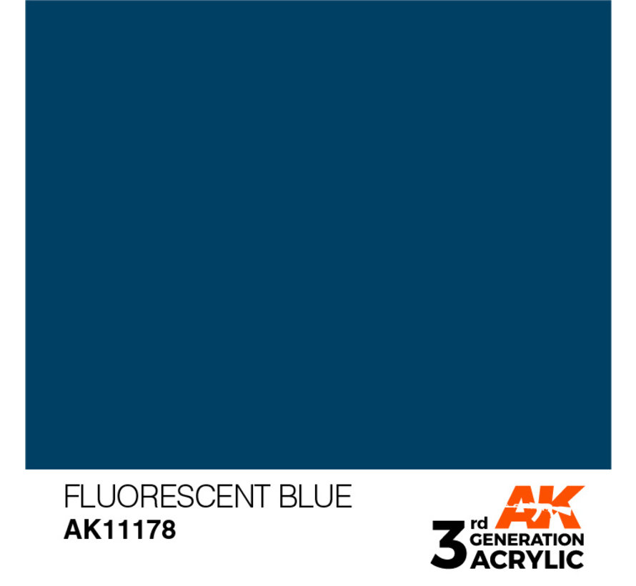 Fluorescent Blue Acrylic Modelling Colors - 17ml - AK11178