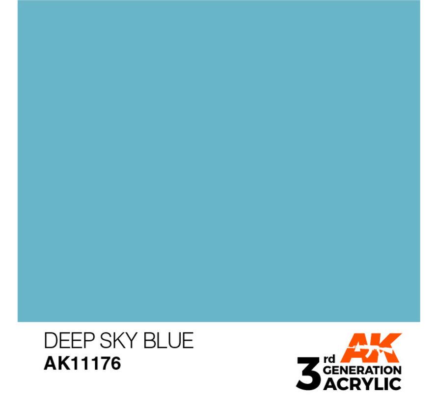 Deep Sky Blue Acrylic Modelling Colors - 17ml - AK11176