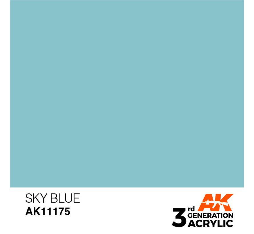 Sky Blue Acrylic Modelling Colors - 17ml - AK11175
