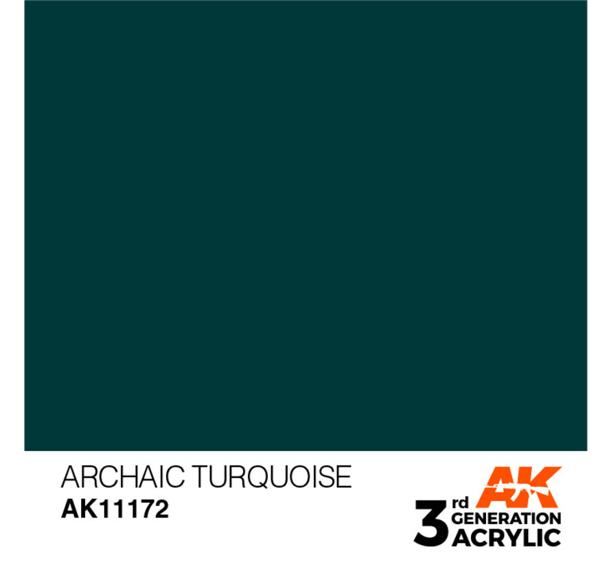 Archaic Turquoise Acrylic Modelling Colors - 17ml - AK11172