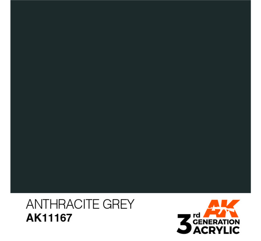 Anthracite Grey Acrylic Modelling Colors - 17ml - AK11167