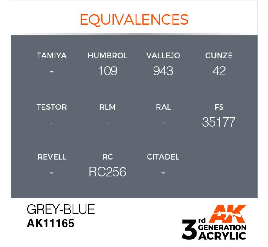 Grey Blue Acrylic Modelling Colors - 17ml - AK11165