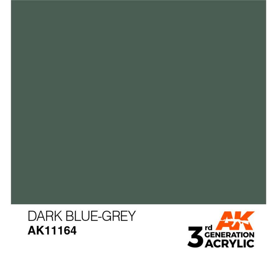 Dark Blue Grey Acrylic Modelling Colors - 17ml - AK11164