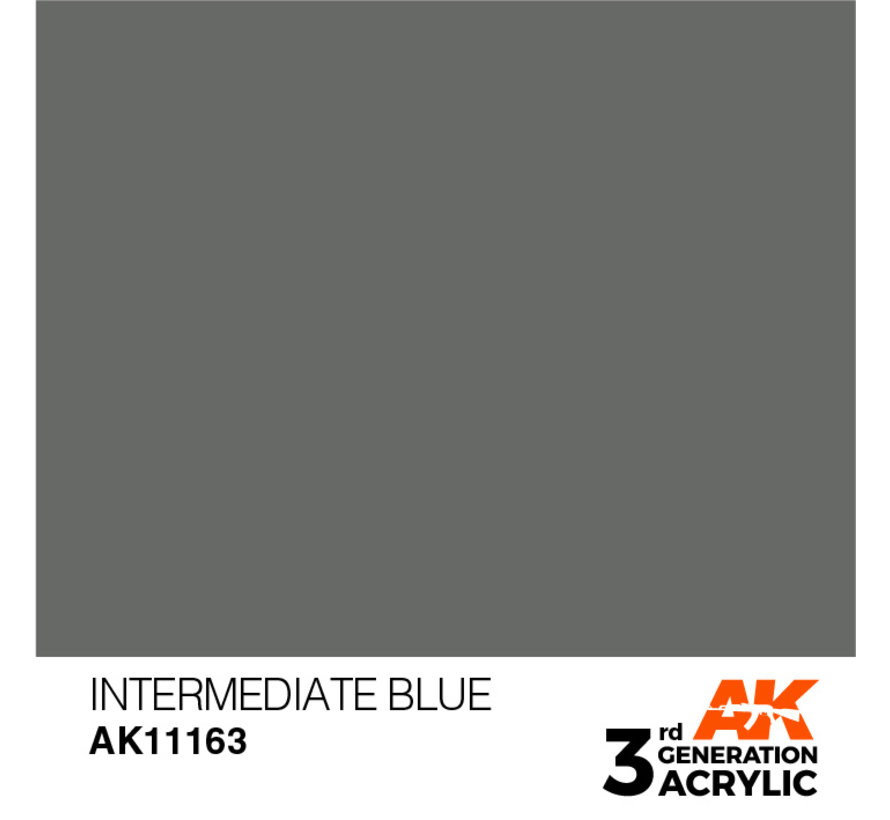 Intermediate Blue Acrylic Modelling Colors - 17ml - AK11163