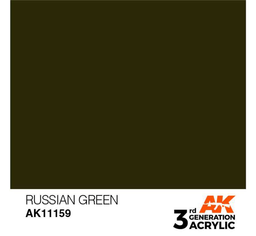 Russian Green Acrylic Modelling Colors - 17ml - AK11159