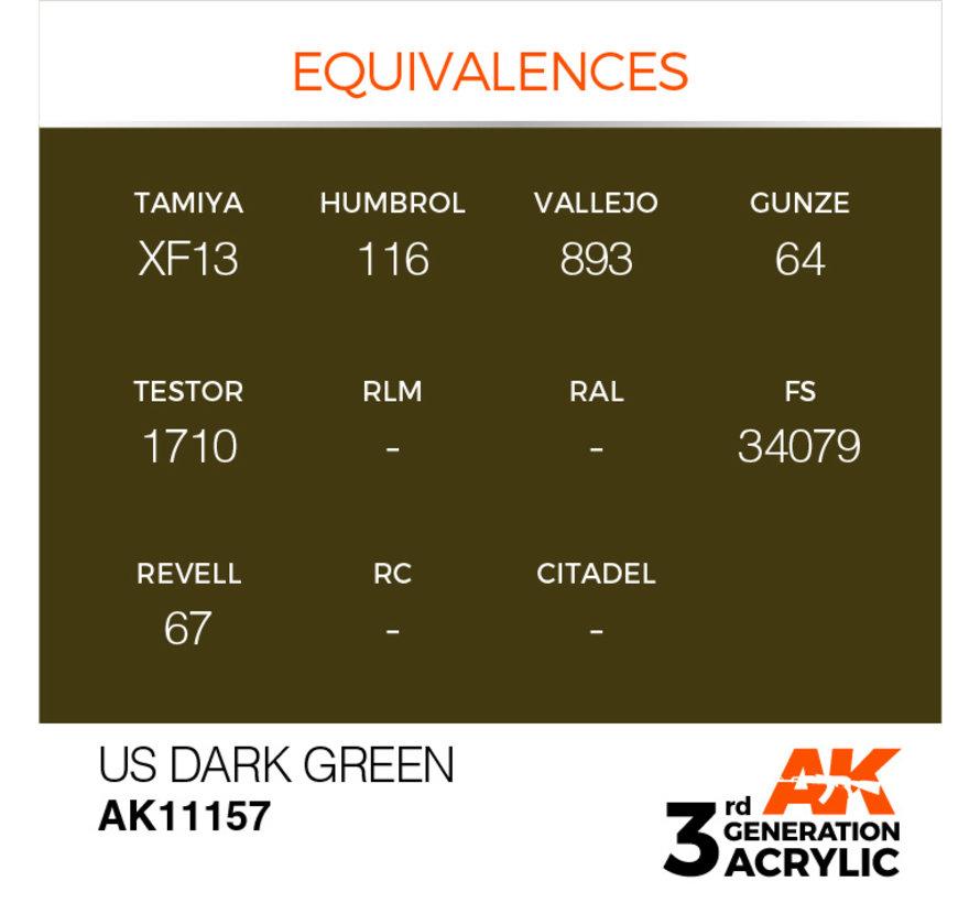 US Dark Green Acrylic Modelling Colors - 17ml - AK11157
