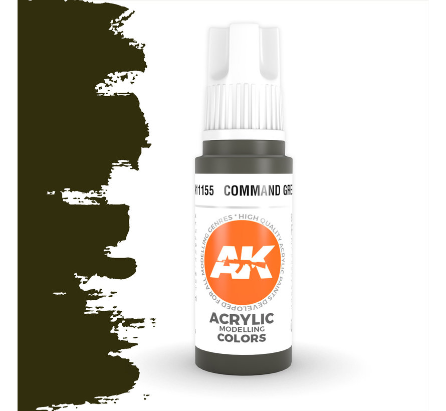 Command Green Acrylic Modelling Colors - 17ml - AK11155