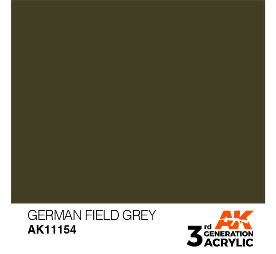 German Field Grey Acrylic Modelling Colors - 17ml - AK11154
