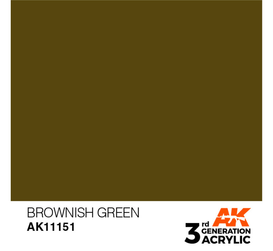 Brownish Green Acrylic Modelling Colors - 17ml - AK11151