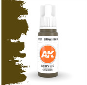 AK interactive Brownish Green Acrylic Modelling Colors - 17ml - AK11151
