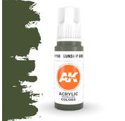 AK interactive Gunship Green Acrylic Modelling Colors - 17ml - AK11150