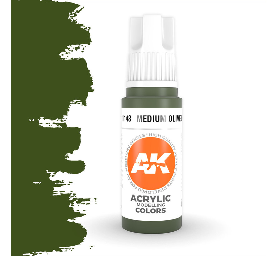 Medium Olive Green Acrylic Modelling Colors - 17ml - AK11148