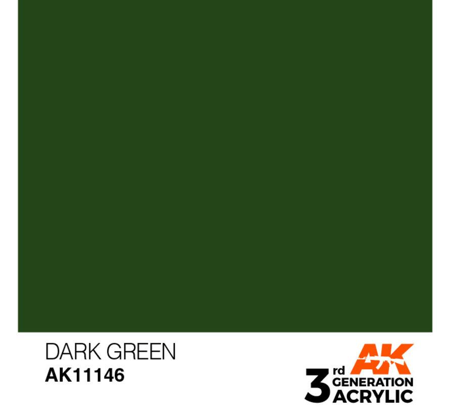 Dark Green Acrylic Modelling Colors - 17ml - AK11146
