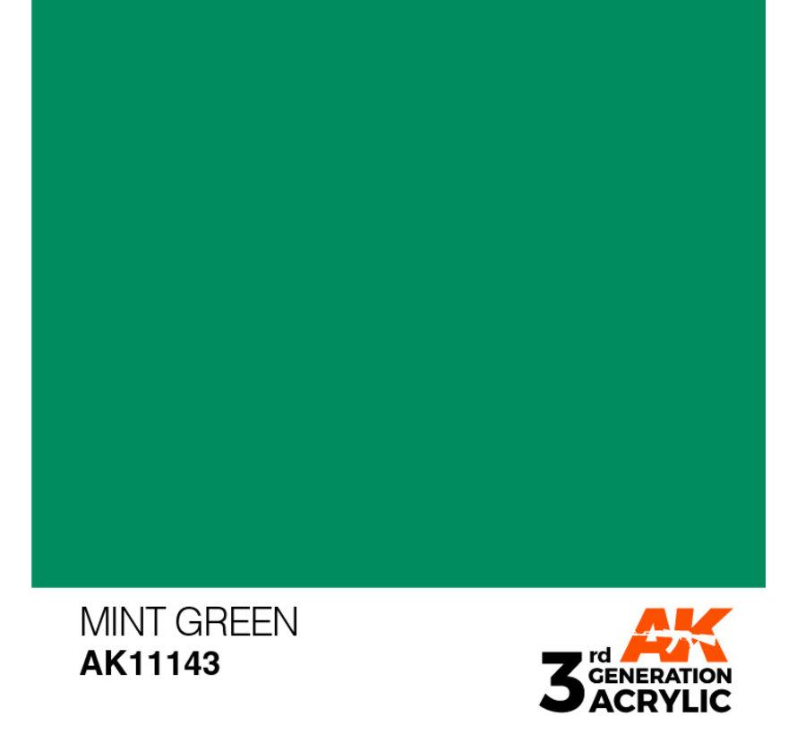 Mint Green Acrylic Modelling Colors - 17ml - AK11143