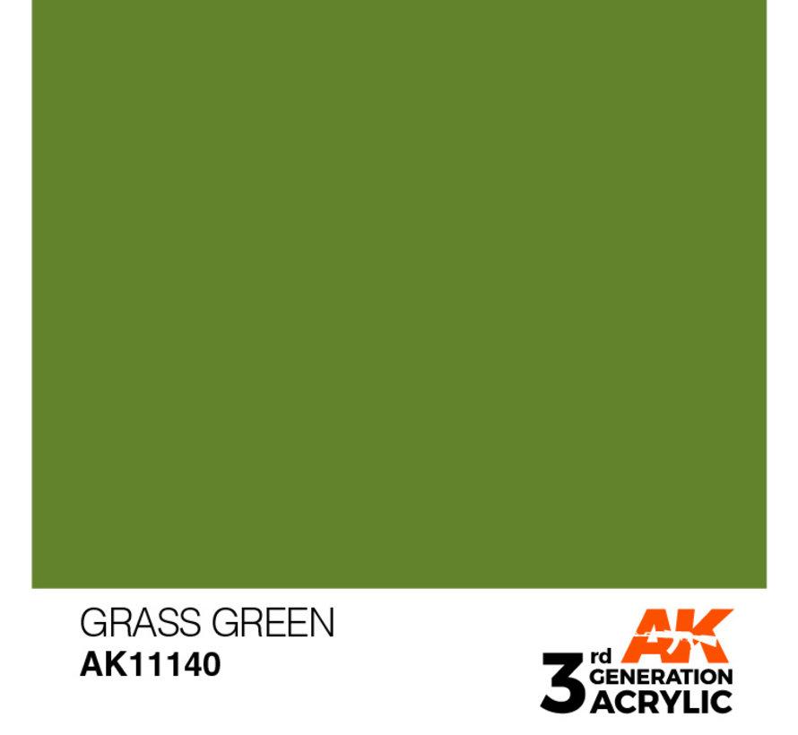 Grass Green Acrylic Modelling Colors - 17ml - AK11140