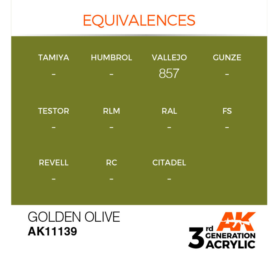 Golden Olive Acrylic Modelling Colors - 17ml - AK11139