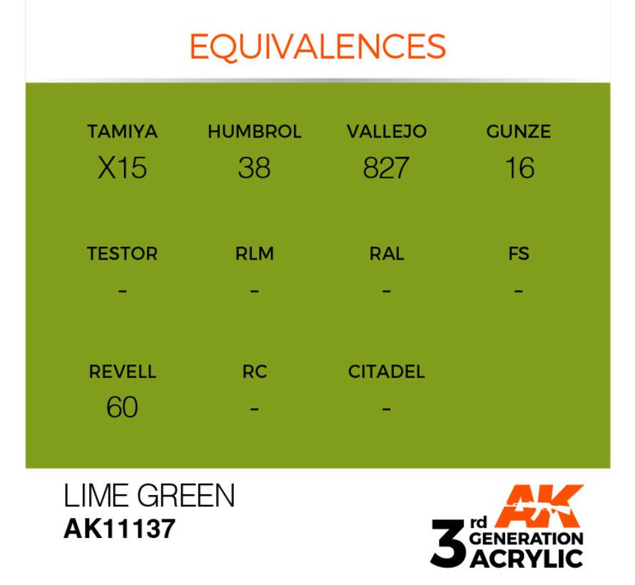 Lime Green Acrylic Modelling Colors - 17ml - AK11137