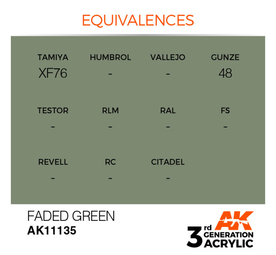 Faded Green Acrylic Modelling Colors - 17ml - AK11135