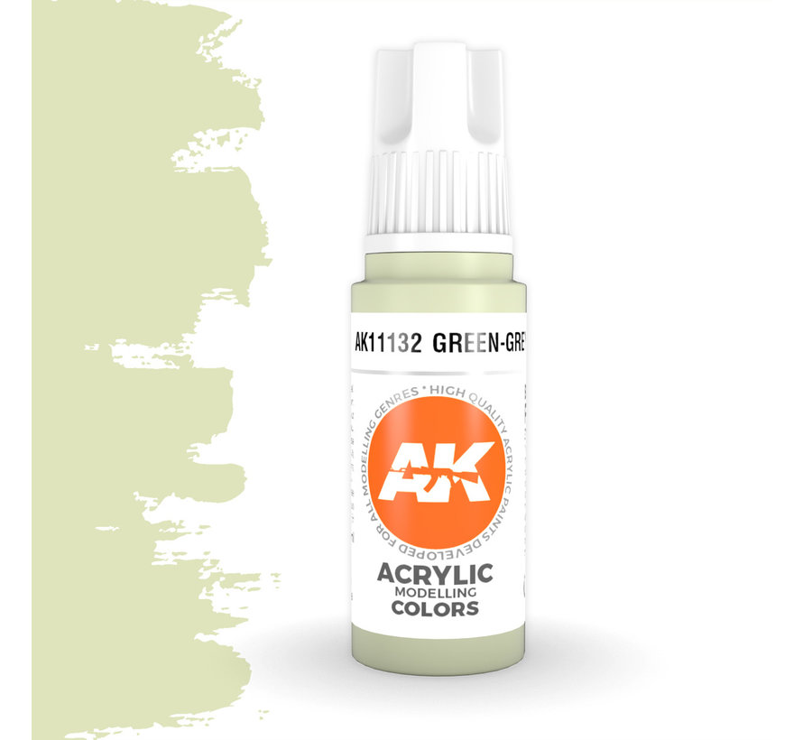 Green Grey Acrylic Modelling Colors - 17ml - AK11132