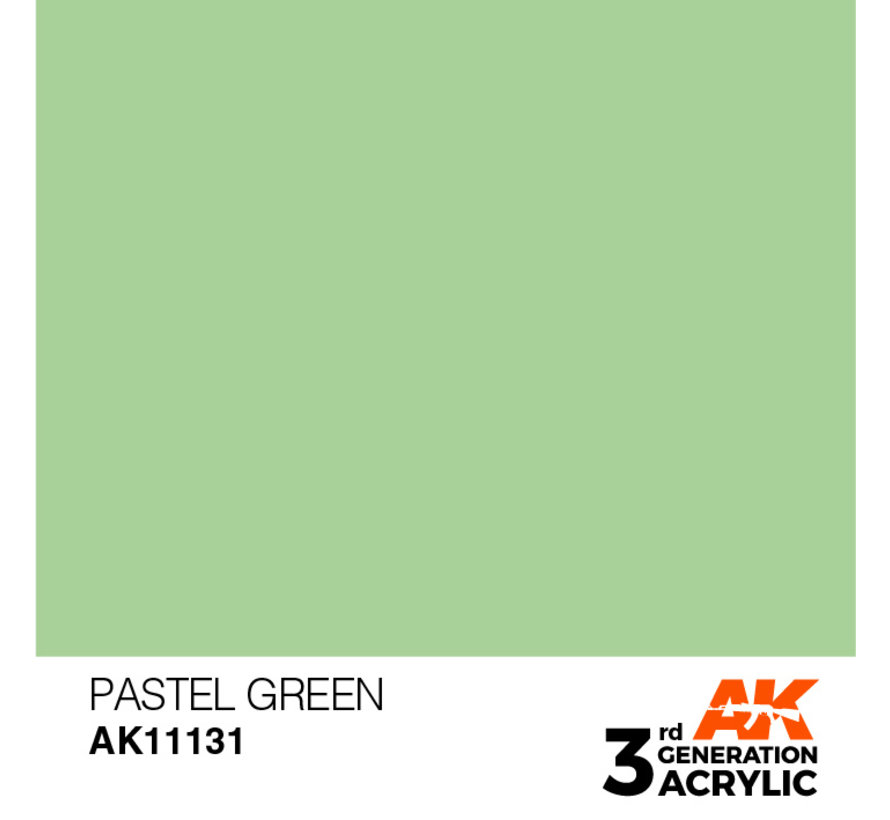 Pastel Green Pastel Modelling Colors - 17ml - AK11131