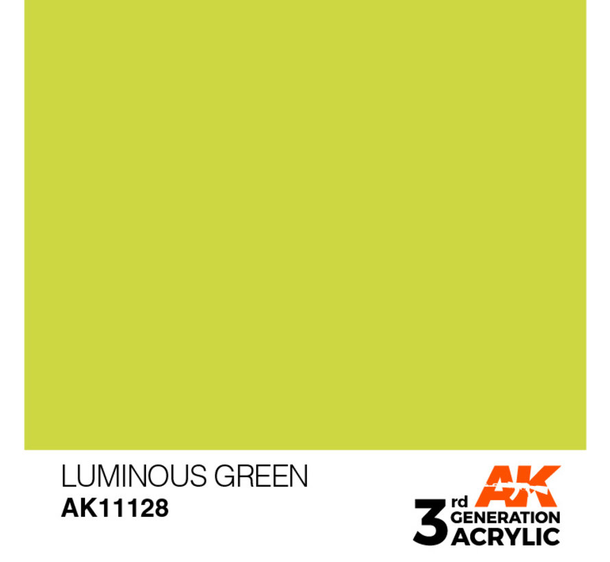 Luminous Green Acrylic Modelling Colors - 17ml - AK11128