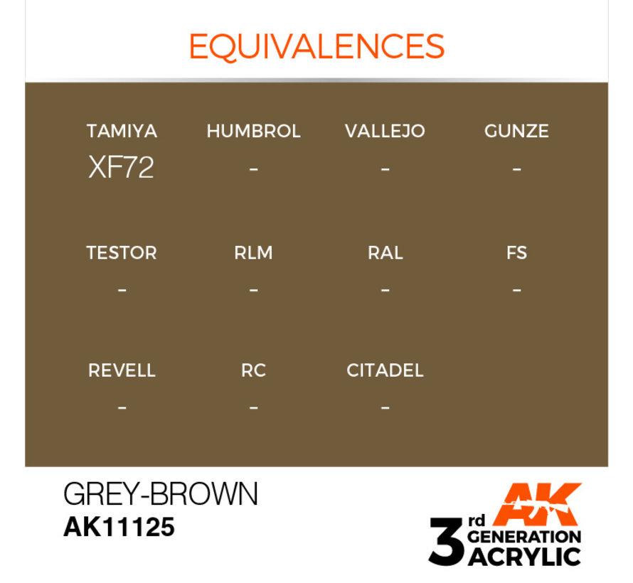 Grey Brown Acrylic Modelling Colors - 17ml - AK11125