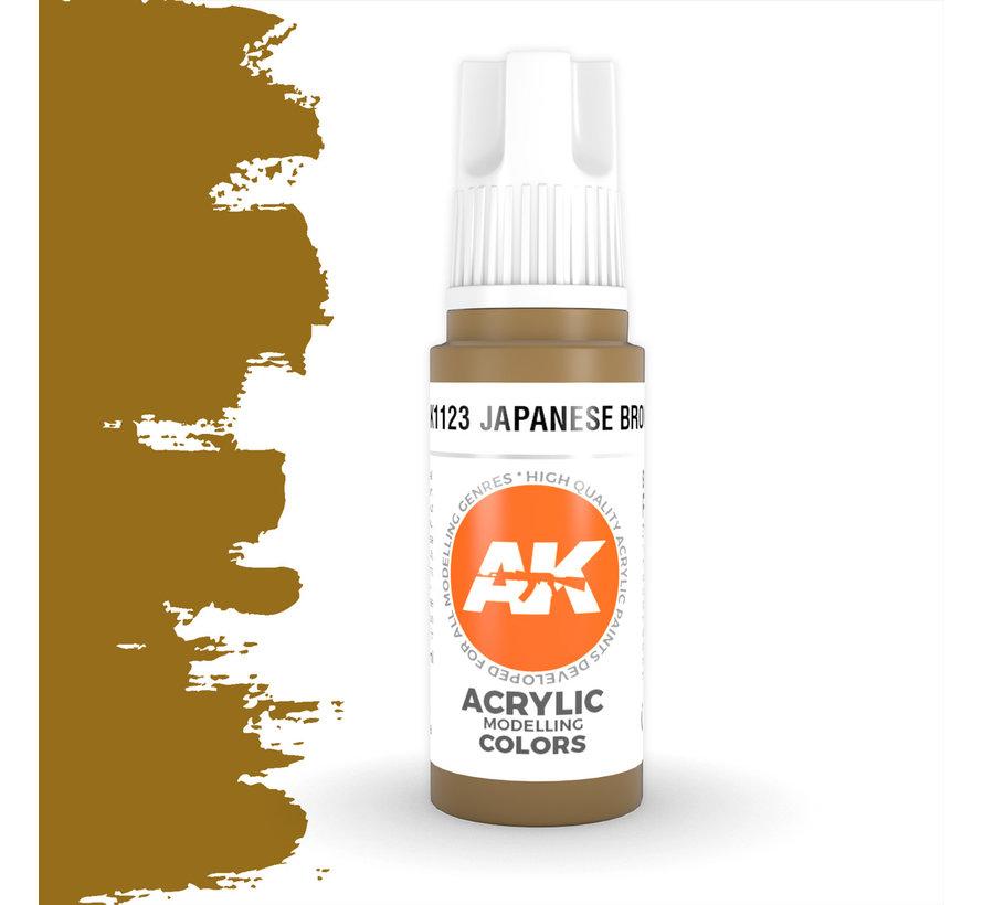 Japanese Brown Acrylic Modelling Colors - 17ml - AK11123