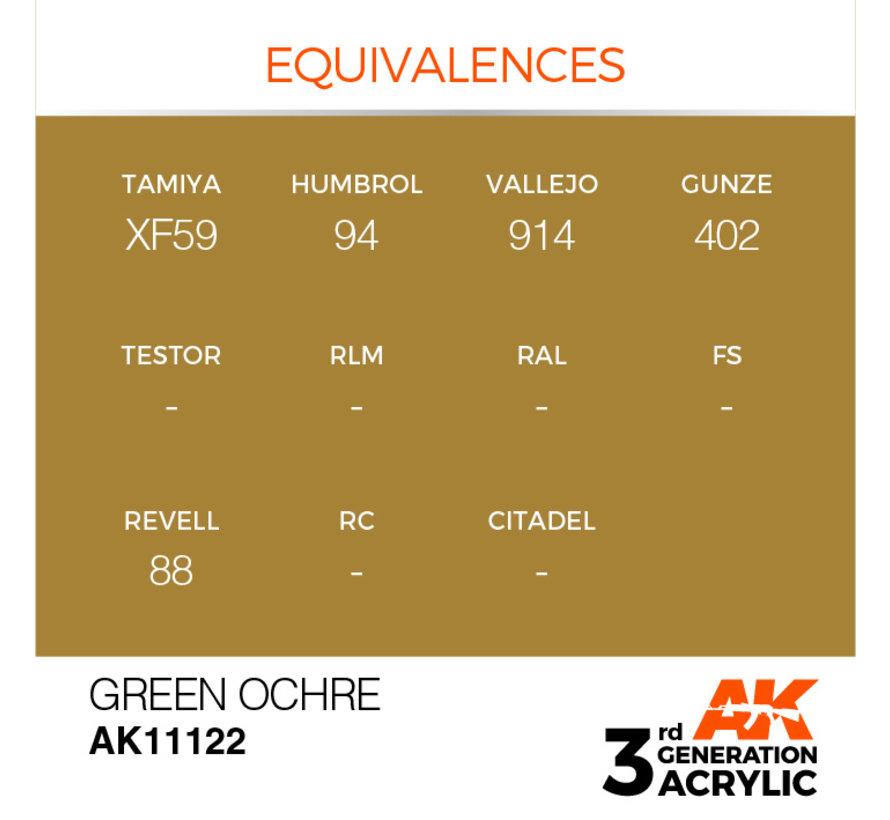 Green Ocher Acrylic Modelling Colors - 17ml - AK11122