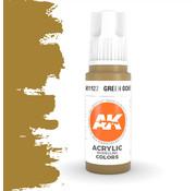 AK interactive Green Ocher Acrylic Modelling Colors - 17ml - AK11122