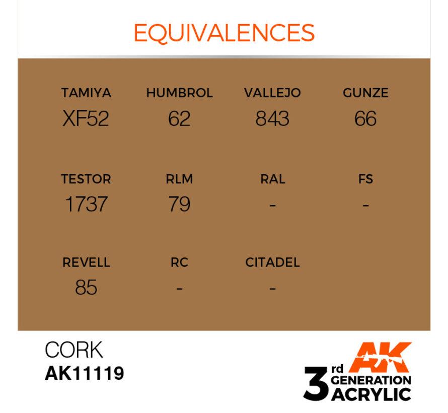 Cork Acrylic Modelling Colors - 17ml - AK11119