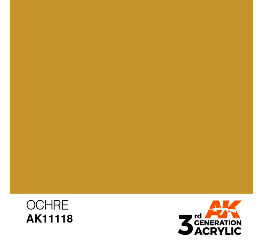 Ocher Acrylic Modelling Colors - 17ml - AK11118