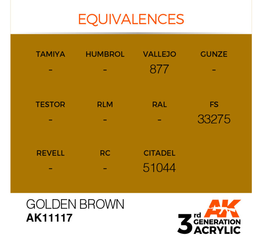 Golden Brown Acrylic Modelling Colors - 17ml - AK11117